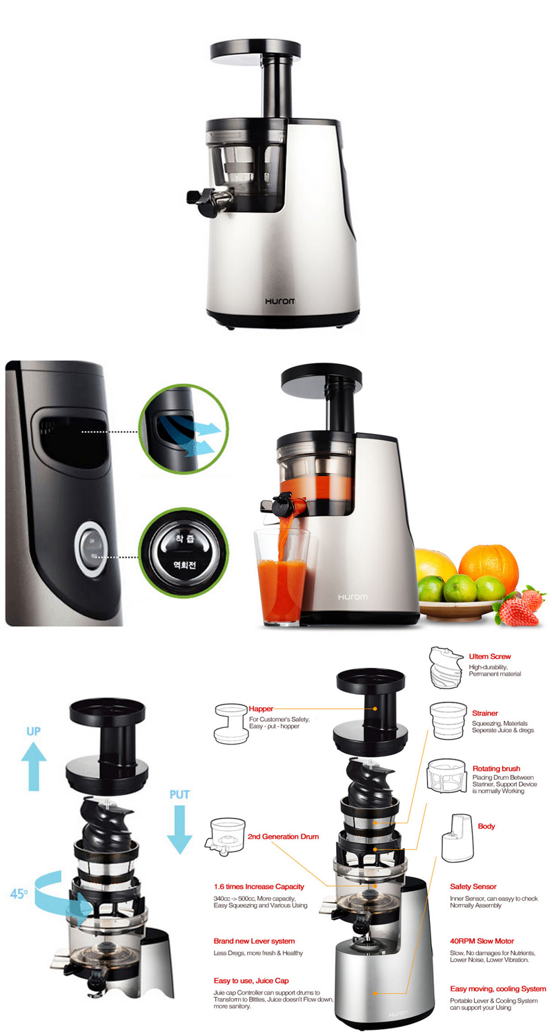 New HUROM HH-SBF11 Slow Juicer Extractor Fruit vegetable Citrus +Free Express eBay